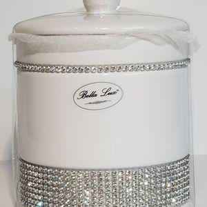 Bella Lux Bathroom Canister Ceramic Brand New